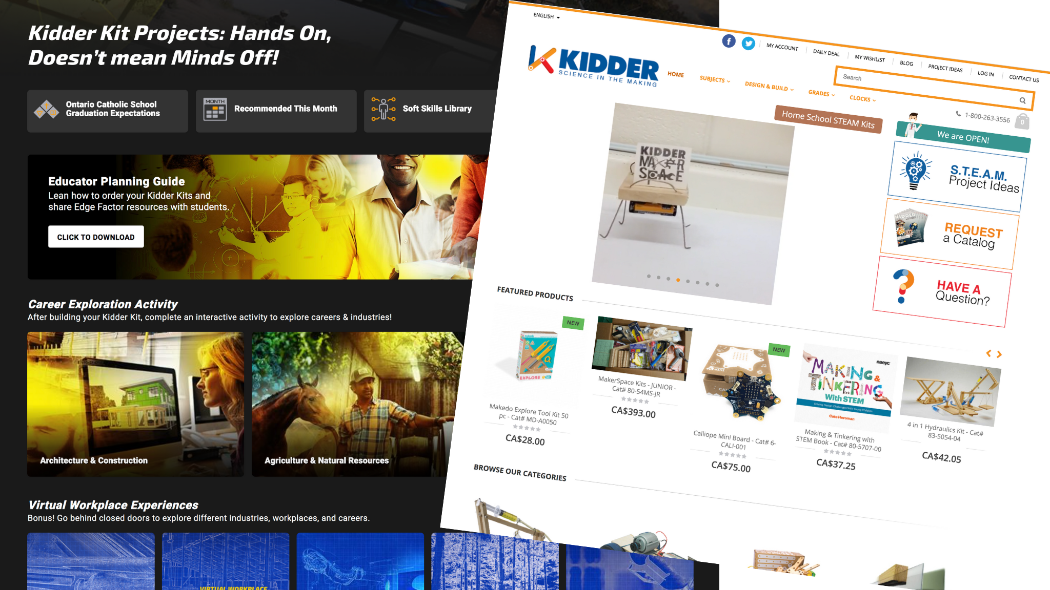 Edge Factor aligns with Kidder Kits to inspire career exploration.